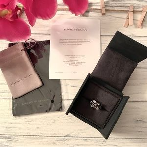 David Yurman Confetti 3-Row Ring with Black Onyx